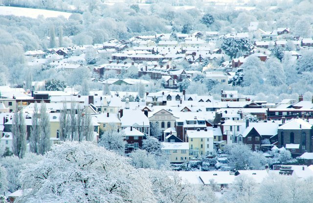 Tiverton Snowy Town View 169 Lewis Clarke Cc By Sa 2 0 Geograph Britain And Ireland