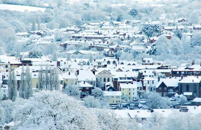 Tiverton : Snowy Town View