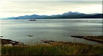 NR6880 : Beinn Bhreac from above Kiell Quay and Chapel by Flying Stag