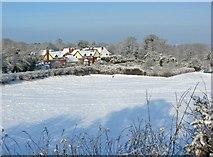 SO8171 : Snow covered field by P L Chadwick