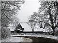 TL4454 : Anstey Hall Farm barn by John Sutton