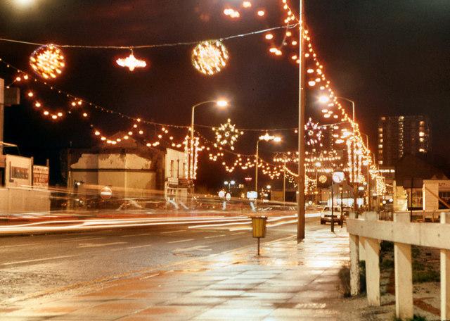 Sheffield Christmas Lights 1972 David Dixon Geograph