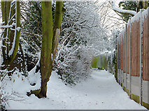 SO9096 : Public footpath near Colton Hills School, Wolverhampton by Roger  Kidd