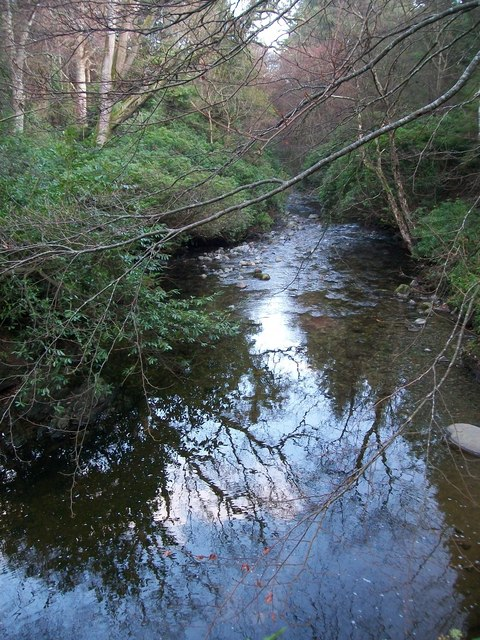 The Shimna River downstream of the Ivy Bridge