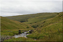SD8970 : Looking down Cowside Beck from the footbridge by Christopher Hilton