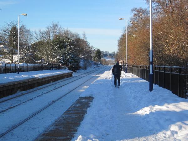 The Skier arriving on Platform 1 is for ..........