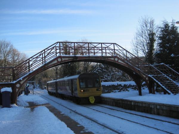 Station footbridge at Riding Mill Station