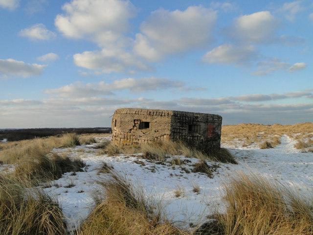 Type FW3/24 pillbox on the dunes at Horsey Gap