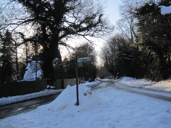 Road Junction near Shepherd's Dene