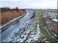 TF5416 : Frozen drain close to White House Farm by Richard Humphrey