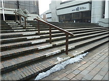 SU6400 : Last vestiges of snow in Guildhall Square by Basher Eyre