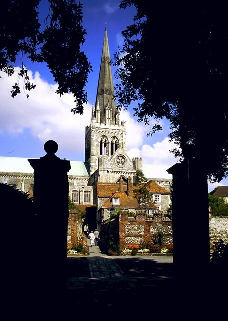 Chichester Cathedral from the Cloisters