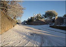 SX9065 : Teignmouth Road, Torquay, in the snow by Derek Harper