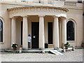 TL1348 : Moggerhanger House -entrance portico by John Brightley