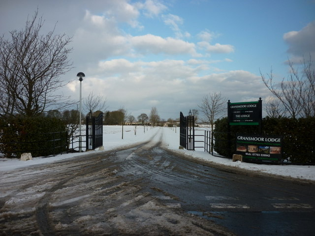 The entrance to Gransmoor Lodge