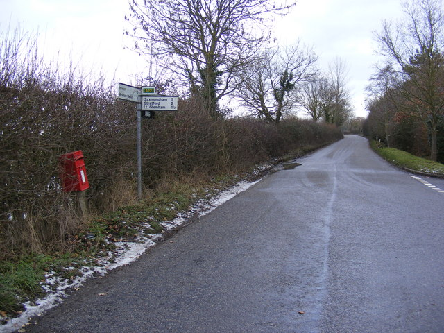 New Road & Marlesford Common Postbox