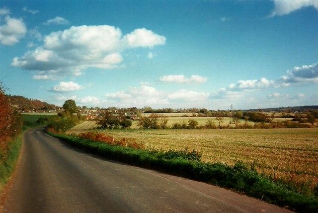 The Kemsing Road, looking east towards Wrotham