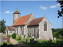TG1508 : Bawburgh St Mary and St Walstan's church by Adrian S Pye