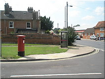 TM2850 : Postbox and phonebox in Melton village centre by Basher Eyre
