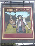 TM2850 : Pub sign in Station Road by Basher Eyre
