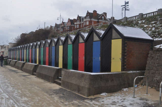 Beach Huts at Lowestoft by Ashley Dace