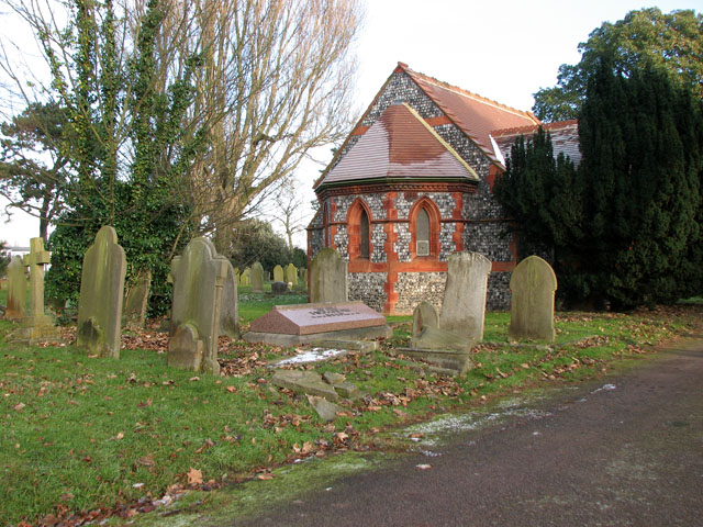 Graves by the chapel in Gorleston cemetery