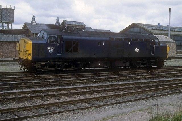 Once Gateshead locomotive shed 52A