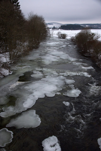 Frozen River Isla at Craigton of Isla