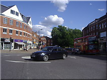 TQ1289 : Roundabout on Bridge Street Pinner by David Howard