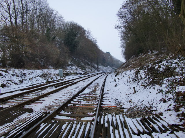 The view eastward from Betchworth Station