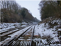 TQ2151 : The view eastward from Betchworth Station by Stefan Czapski