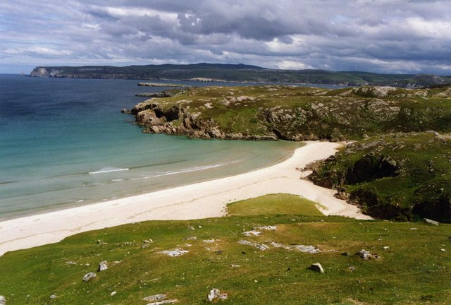 Slopes above Ceannabeinne Sands, looking towards Loch Eriboll by David Gearing