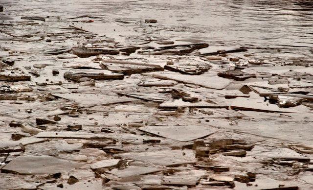 Ice, River Lagan, Stranmillis, Belfast (1)