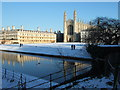 TL4458 : Clare College and King's Chapel, Cambridge - Christmas Day 2010 by Richard Humphrey