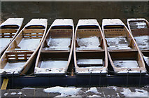 TL4458 : Punts in the snow (2) by Alan Murray-Rust