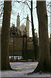 TL4458 : Trinity gates and King's chapel by Alan Murray-Rust