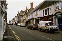 ST6834 : Bruton High Street, in 1993 by David Gearing