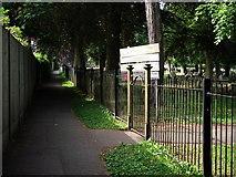 SP2871 : Footpath alongside Kenilworth cemetery by John Brightley