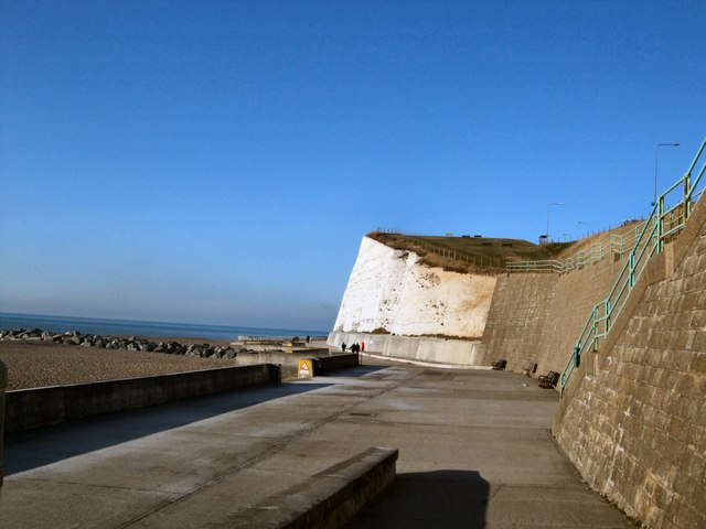 Undercliff Walk at Saltdean by Paul Gillett