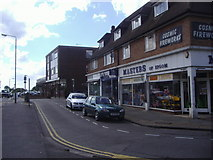 TQ2258 : Shops on Tattenham Crescent, Epsom Downs by David Howard