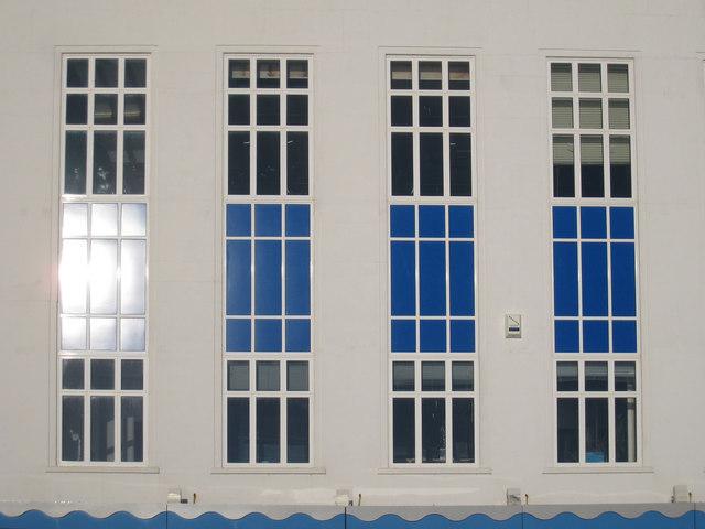 Window detail at Marine Court