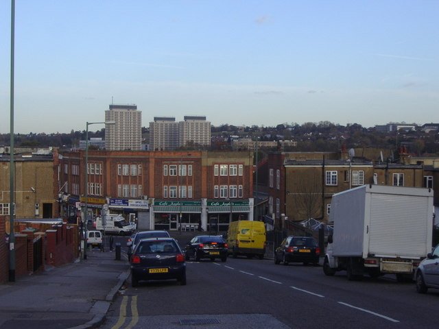 View from Wakemans Hill Avenue Colindale