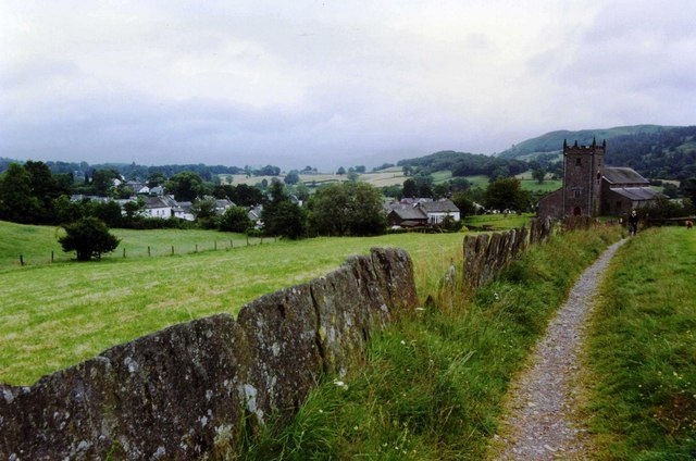 Path leading to St Michael and All Angels' Church, Hawkshead