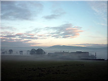 SD4979 : Winter evening, Beetham Hall by Karl and Ali