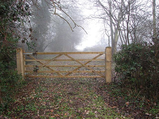 Gate into Grove Plantation