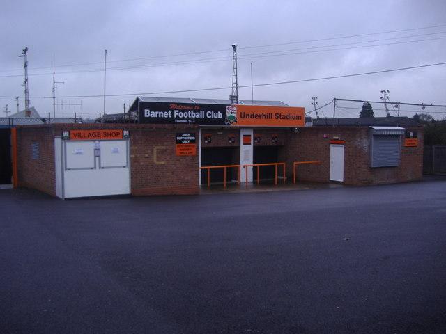 Barnet Football Club, Westcombe Drive entrance