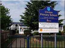 SP2871 : Entrance to Clinton Primary School, Kenilworth by John Brightley