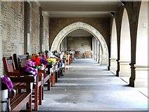 NZ2065 : Loggia, West Road Cemetery & Crematorium by Andrew Curtis