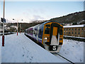 SE0924 : Snow covered platforms at Halifax station by Phil Champion