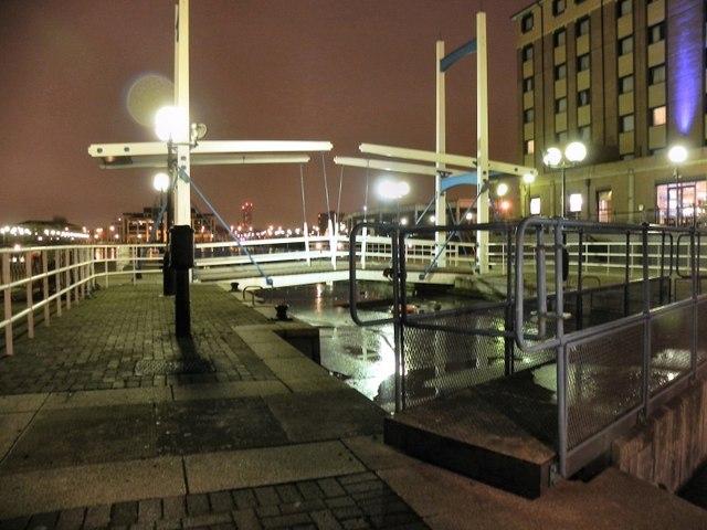 Lock And Bridge, Salford Quays